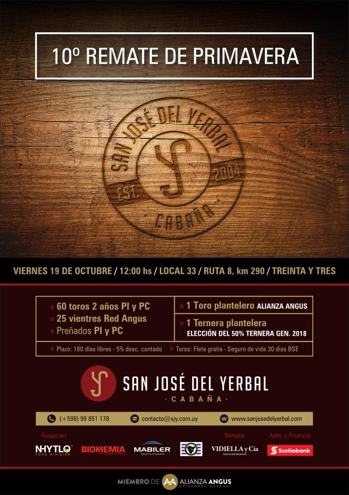 """10° Remate de Primavera – Cabaña """"San José del Yerbal"""" de José Armentano e Hijos SCA"""